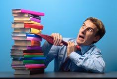 Homem e livros Imagem de Stock
