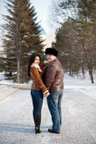 Homem e menina Fotografia de Stock