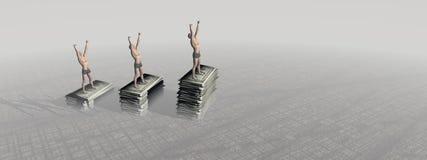 Homem e monney Imagem de Stock