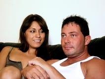 Homem e mulher Fotografia de Stock