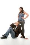 Homem e mulher de Grunge junto Fotos de Stock