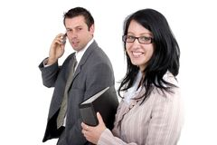 Homem e mulher de negócio Imagens de Stock Royalty Free