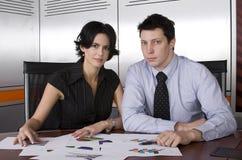 Homem e mulher de negócio Fotografia de Stock Royalty Free