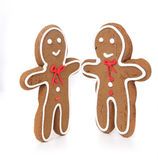 Homem e mulher do pão do gengibre que olham Eachother Imagens de Stock Royalty Free