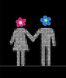 Homem e mulher junto Imagens de Stock Royalty Free