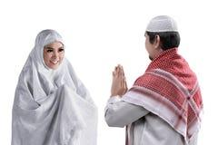 Homem e mulher muçulmanos asiáticos imagem de stock royalty free
