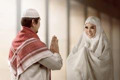 Homem e mulher muçulmanos asiáticos fotografia de stock royalty free