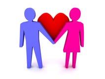 Homem e mulher no amor. Pares. Fotografia de Stock