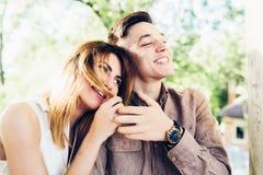 Homem e mulher no parque Foto de Stock