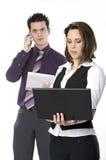 Homem e mulher no trabalho Imagens de Stock Royalty Free