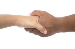 Homem e mulher que agitam as mãos Imagem de Stock