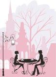 Homem e mulher românticos ilustração royalty free