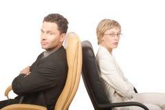 Homem e mulher - sócios de negócio imagens de stock