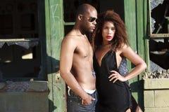 Homem e mulheres do African-American Fotos de Stock Royalty Free