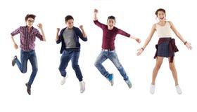 Homem e mulheres felizes Fotografia de Stock Royalty Free