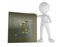 Homem e processador central Fotos de Stock
