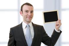 Homem e quadro-negro Imagens de Stock Royalty Free