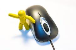 Homem e rato do Plasticine Fotos de Stock Royalty Free