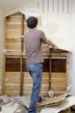 Homem e renovação Fotos de Stock
