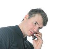 Homem e telefone móvel Imagem de Stock Royalty Free