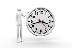 Homem e tempo Imagens de Stock