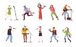 Homem e vetor fêmea dos personagens de banda desenhada ilustração royalty free
