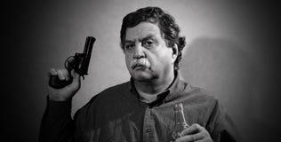 Homem e wiskey Imagens de Stock