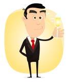 Homem elegante dos desenhos animados Fotos de Stock Royalty Free
