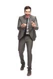 Homem elegante que está feliz foto de stock royalty free