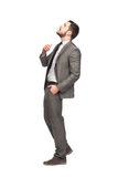 Homem elegante que olha acima Foto de Stock Royalty Free