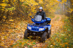 Homem em ATV Fotografia de Stock