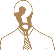Homem em branco Imagens de Stock Royalty Free