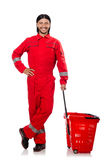 Homem em combinações vermelhas Imagens de Stock Royalty Free