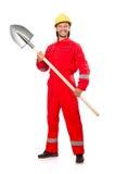 Homem em combinações vermelhas Fotografia de Stock