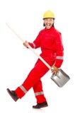 Homem em combinações vermelhas Foto de Stock Royalty Free