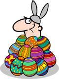 Homem em desenhos animados do traje do coelhinho da Páscoa Fotografia de Stock Royalty Free
