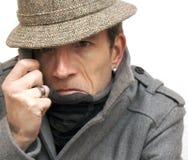 Homem em esconder foto de stock royalty free