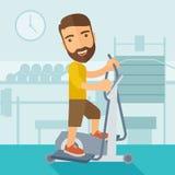 Homem em exercícios do exercício do esporte do gym Fotografia de Stock Royalty Free