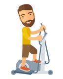 Homem em exercícios do exercício do esporte do gym Imagens de Stock
