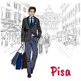 Homem em Pisa Imagens de Stock