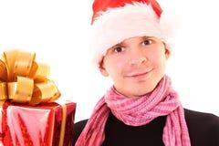 Homem em Santa Imagens de Stock