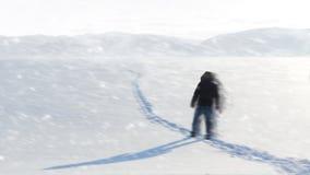 Homem em Sibéria Paisagem bonita Fotografia de Stock Royalty Free
