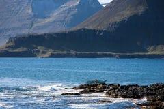 Homem em um barco a remos Imagens de Stock