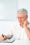 Homem em um branco Imagem de Stock Royalty Free