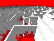 Homem em um labirinto Fotos de Stock Royalty Free