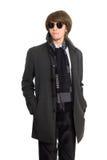 Homem em um raincoat Fotografia de Stock Royalty Free