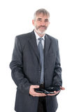 Homem com telefone Fotos de Stock