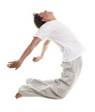 Homem em um salto foto de stock royalty free