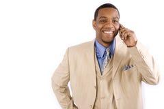 Homem em um telemóvel foto de stock royalty free