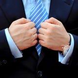 Homem em um terno Fotografia de Stock Royalty Free